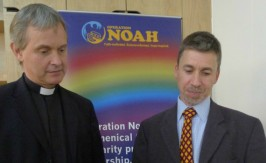 Giles Goddard and Mark Letcher at the launch of the Bright Now campaign