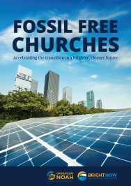 Front cover of the Fossil Free Churches report.