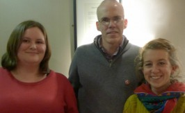 Bill McKibben with Operation Noah board members Siobhan Grimes and Sunniva Taylor